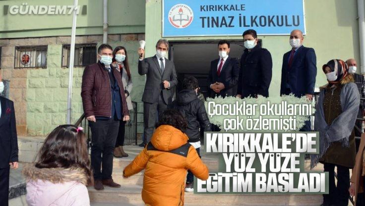 Kırıkkale'de Uzun Süre Sonra Öğrenciler İçin İlk Ders Zili Çaldı