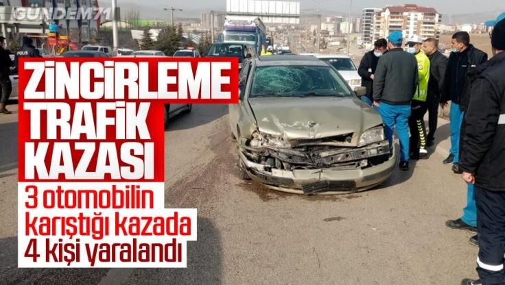 Kırıkkale'de Zincirleme Kaza; 4 Kişi Yaralandı