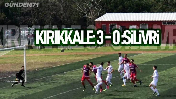 Kırıkkale Büyük Anadoluspor, Silivrispor'u 3-0 Yendi
