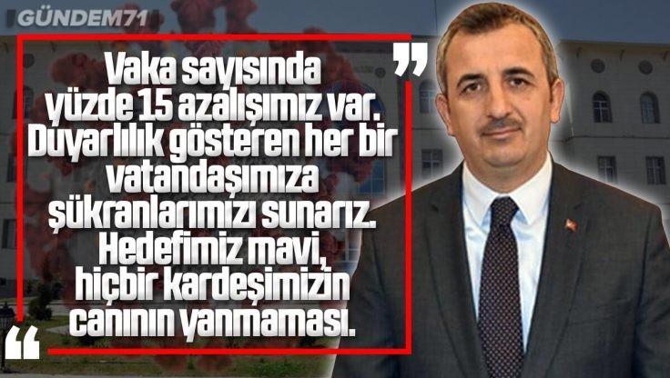Kırıkkale Valisi Yunus Sezer'den Yeni Vaka Haritası Sonrası Açıklama