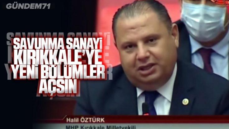 MHP'li Öztürk Yatırımcıları Silah OSB'ye Davet Etti