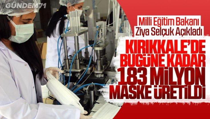 Kırıkkale'de Bugüne Kadar Toplam 183 Milyon Maske Üretildi