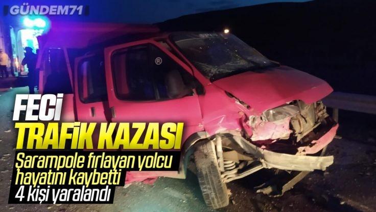 Kırıkkale'de Trafik Kazası; 1 Kişi Öldü, 4 Kişi Yaralandı