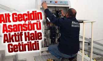 Kırıkkale'de Geçtiğimiz Günlerde Zarar Verilen Alt Geçidin Asansörü Aktif Hale Getirildi