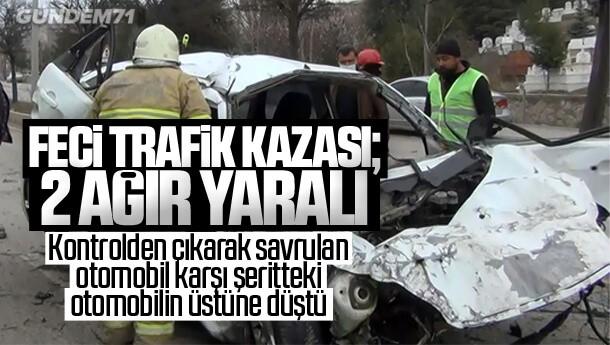 Kırıkkale'de Feci Trafik Kazası; 2 Ağır Yaralı