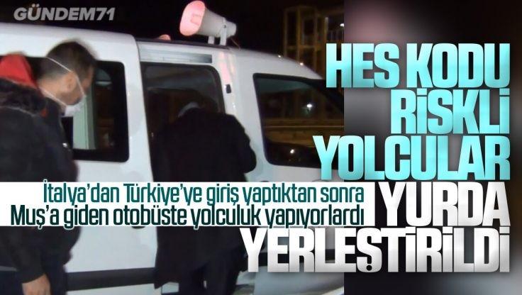 HES Kodu Riskli Çıkan 2 Yolcu Kırıkkale'de Yurda Yerleştirildi