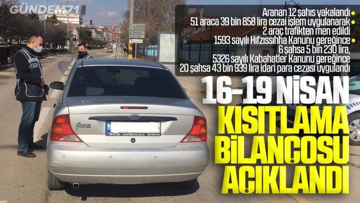 Kırıkkale'de Haftasonu Kısıtlama Bilançosu Açıklandı
