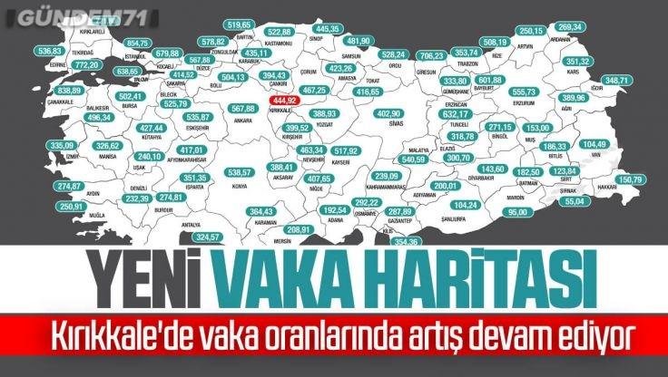 İllere Göre Haftalık Vaka Haritası Açıklandı; Kırıkkale'de Vaka Oranlarında Artış Sürüyor