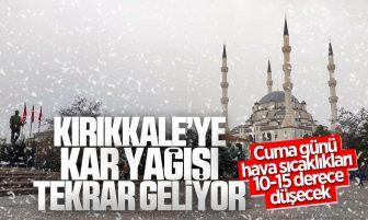 Kırıkkale'de Karla Karışık Yağmur ve Kar Yağışı Görülecek