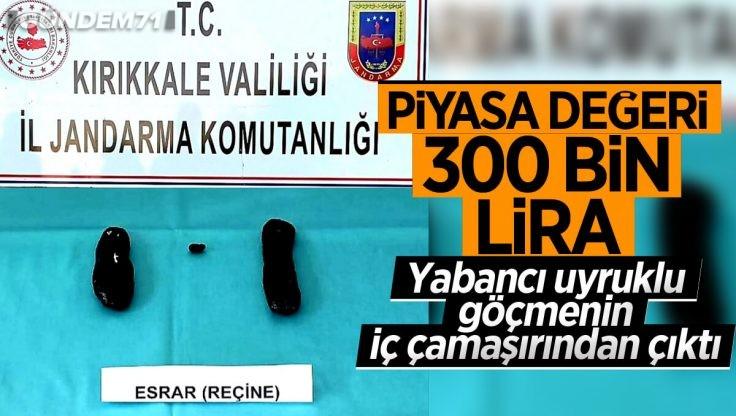 Kırıkkale'de Yaklaşık Değeri 300 Bin Lira Olan Reçine Esrarı Ele Geçirildi