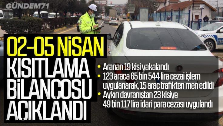 Kırıkkale'de Haftasonu Sokağa Çıkma Kısıtlaması Bilançosu Açıklandı