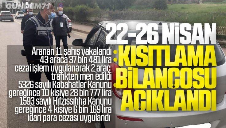 Kırıkkale Valiliği Haftasonu Kısıtlama Bilançosunu Açıkladı