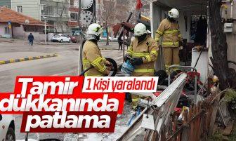 Kırıkkale'de Tamir Dükkanında Patlama; 1 Kişi Yaralandı