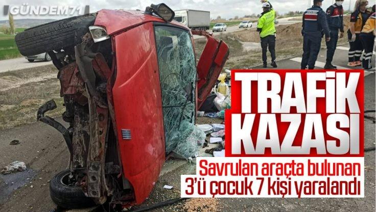 Kırıkkale'de Trafik Kazası; 7 Kişi Yaralandı