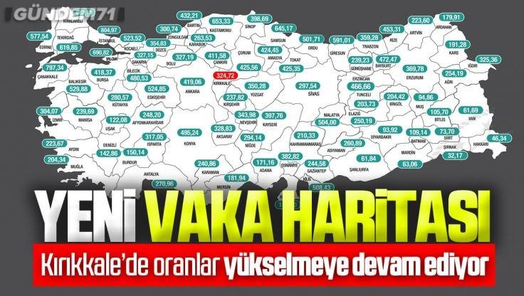 İllere Göre Haftalık Vaka Haritası Açıklandı; Kırıkkale'de Oranlar Yükselişe Devam Ediyor