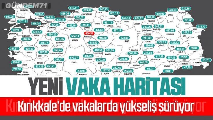 İllere Göre Haftalık Vaka Haritası Açıklandı; Kırıkkale'de Vaka Yükselişi Sürüyor