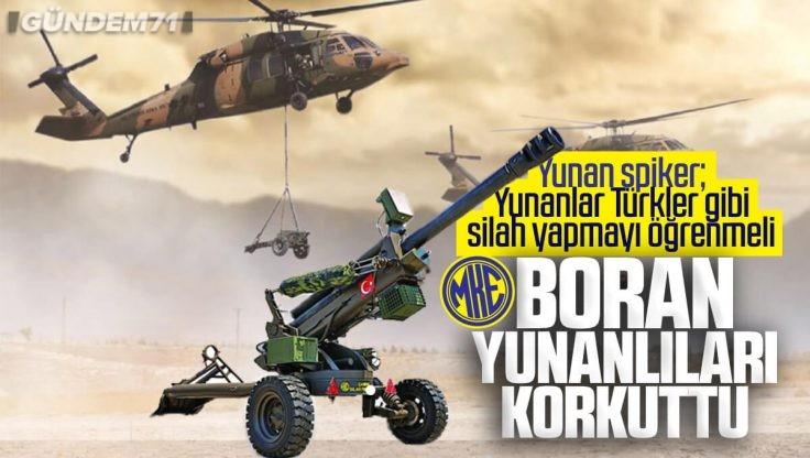 MKE Üretimi (BORAN) Havadan Taşınabilir Hafif Çekili Obüs Yunanları Korkuttu