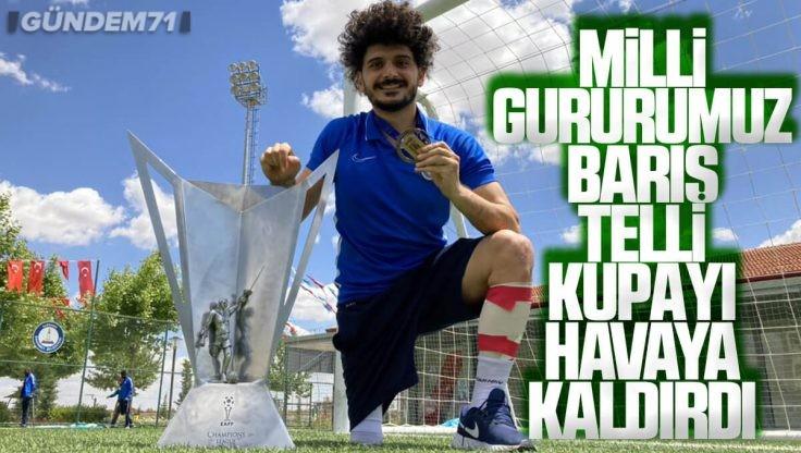 Kırıkkale'li Milli Gururumuz Barış Telli, Ampute Futbol Avrupa Şampiyonu Oldu