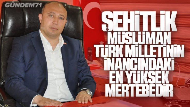 Erdal Baloğlu'ndan 27 Mayıs Ülkücü Şehitleri Anma Günü Mesajı