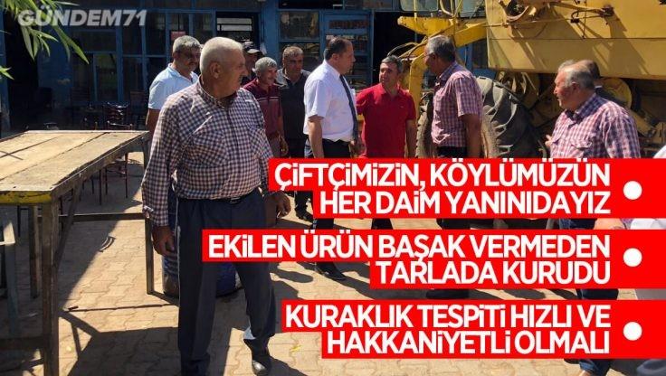 Halil Öztürk, Kırıkkale'de Yaşanan Kuraklığa Dikkat Çekti