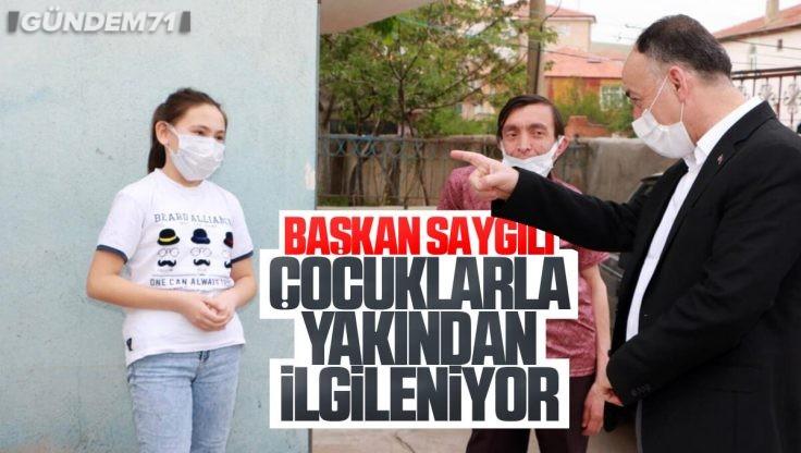 Kırıkkale Belediye Başkanı Mehmet Saygılı Çocuklarla Yakından İlgileniyor