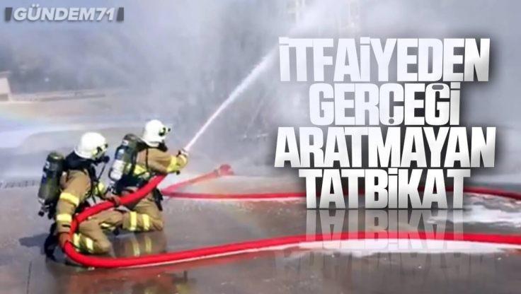 Kırıkkale İtfaiyesi Orta Anadolu Rafinerisinde Tatbikat Gerçekleştirdi