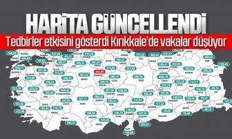 İllere Göre Haftalık Vaka Haritası Açıklandı; Kırıkkale'de Vaka Sayısı Azaldı