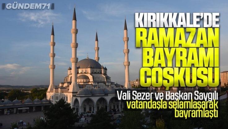Kırıkkale'de Ramazan Bayramı Namazı Kovid-19 Tedbirleriyle Kılındı