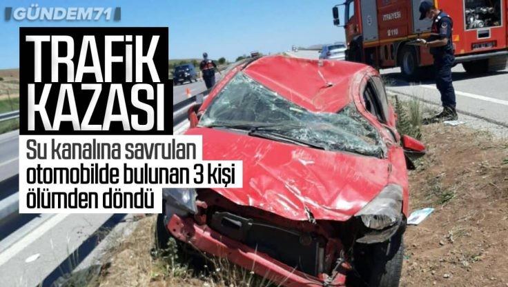 Kırıkkale'de Trafik Kazası: 3 Kişi Yaralandı
