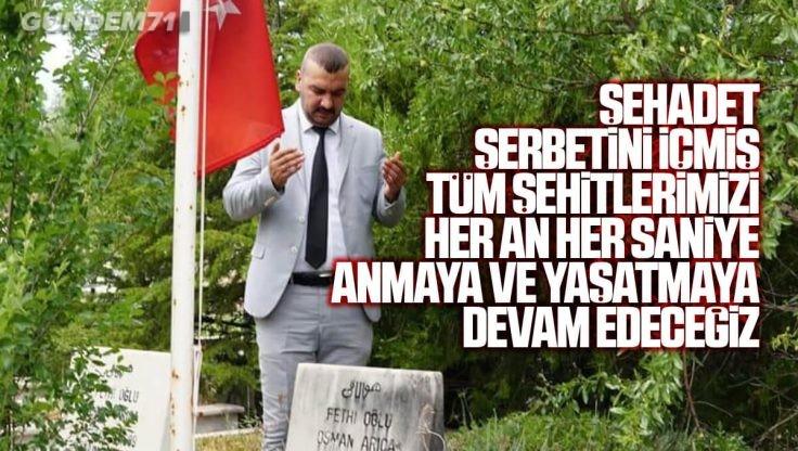 Kırıkkale Ülkü Ocakları 27 Mayıs Ülkücü Şehitleri Anma Günü Nedeniyle Şehitleri Ziyaret Etti