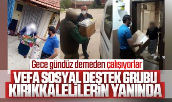 Kırıkkale Valiliği Vefa Destek Gruplarının Vatandaşlara Desteği Sürüyor