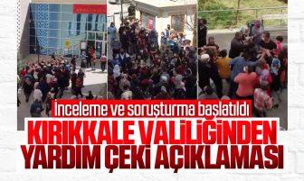 Kırıkkale Valiliği Yardım Çeki Dağıtımı Hakkında Açıklama Yaptı