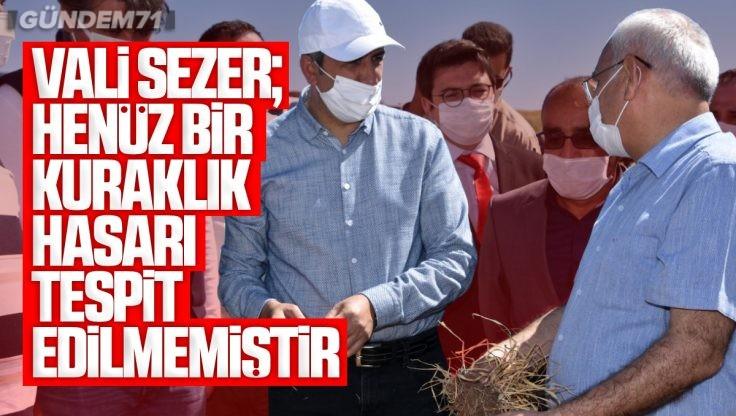 Kırıkkale Valisi Yunus Sezer, Tarım Arazilerinde İncelemede Bulundu