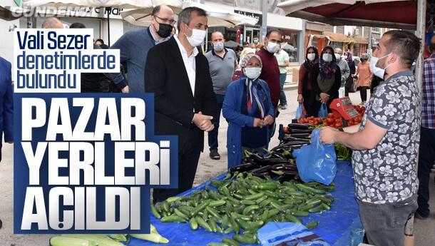 Kırıkkale'de Koronavirüs Tedbirleri İle Semt Pazarları Açıldı
