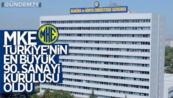 MKE, Türkiye'nin En Büyük 90. Sanayi Kuruluşu Oldu