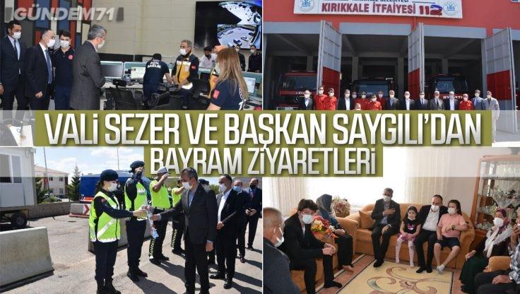 Vali Sezer ve Başkan Saygılı'dan Bayram Ziyaretleri