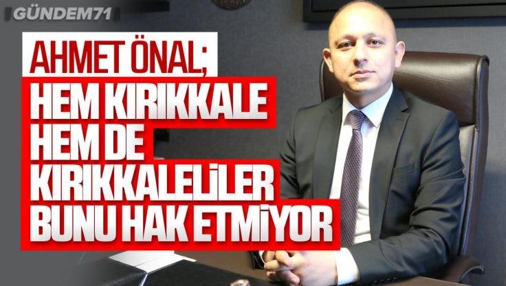 Ahmet Önal'dan Su Kesintileri İle İlgili Açıklama