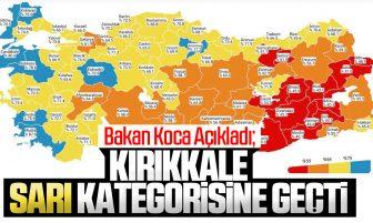 Bakan Koca Açıkladı; Kırıkkale Orta Riskli İl  (Sarı) Kategorisine Geçti