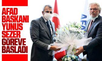 AFAD Başkanı Yunus Sezer Görevine Başladı