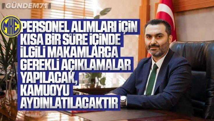 Mustafa Kaplan'dan MKE Açıklaması