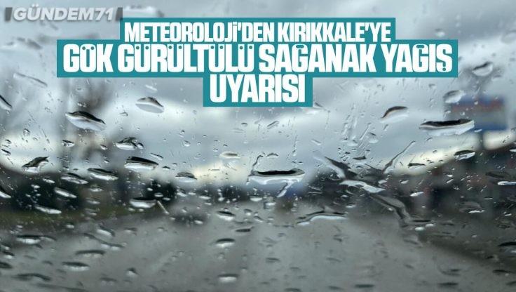 Kırıkkale İçin Gök Gürültülü Sağanak Yağış Uyarısı
