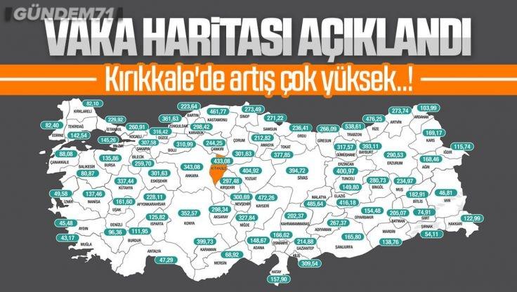 İllere Göre Haftalık Haritası Açıklandı; Kırıkkale Vaka Artışında 2. Sırada
