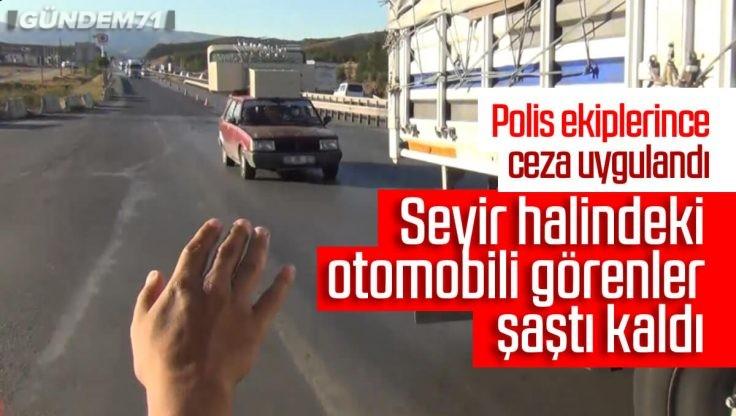 Kırıkkale'de Otomobildekileri Görenler Şaştı Kaldı
