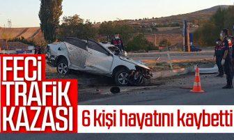 Kırıkkale'de Feci Trafik Kazası; 6 Kişi Hayatını Kaybetti