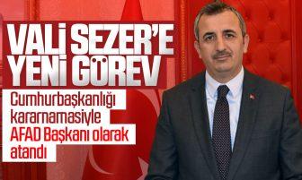 Kırıkkale Valisi Yunus Sezer AFAD Başkanı Olarak Atandı