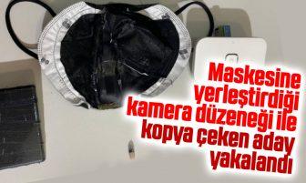 Kırıkkale'de Motorlu Taşıtlar Sınavında Maskesine Yerleştirdiği Kamera Düzeneği İle Kopya Çekti