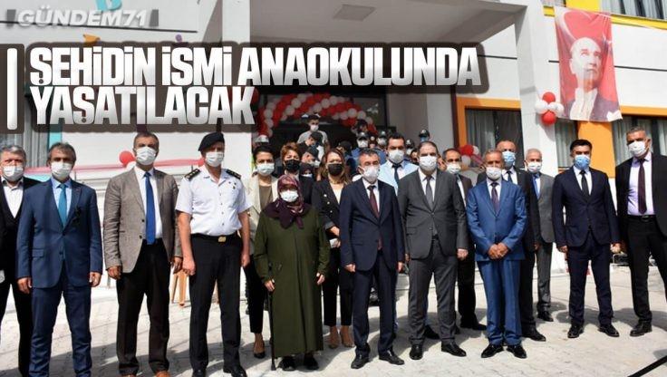 Kırıkkale'de Şehidin İsmi Anaokulunda Yaşatılacak