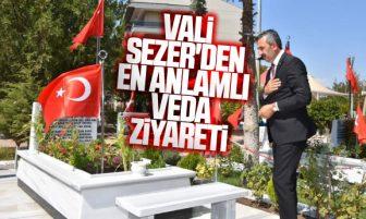 Kırıkkale Valisi Yunus Sezer'den Şehitlikte Veda Ziyareti