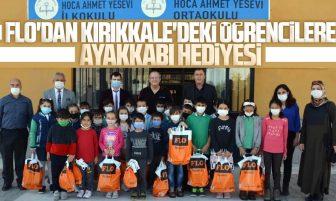 FLO Kırıkkale'de Bin 347 Öğrenciye Ayakkabı Hediye Etti
