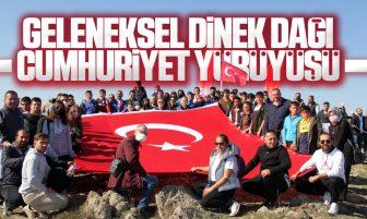 Kırıkkale'de Geleneksel Dinek Dağı Cumhuriyet Yürüyüşü Düzenlendi